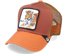 Kids Wild Tiger Rust/Orange Trucker - Goorin Bros.