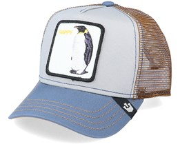 Kids Dancing Penguin Grey/Brown Trucker - Goorin Bros.