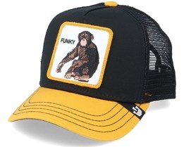 Kids Little Monkey Black/Yellow Trucker - Goorin Bros.