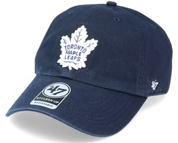 Toronto Maple Leafs Clean Up Dad Cap Light Navy/White Adjustable - 47 Brand