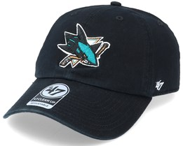San Jose Sharks Clean Up Dad Cap Black Adjustable - 47 Brand