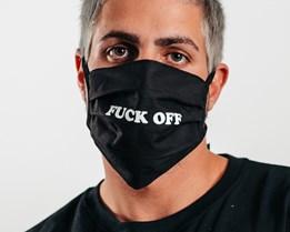 1-Pack Fuck Off Black Face Mask - Headzone