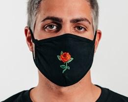 1-Pack Rose Black Face Mask - Headzone