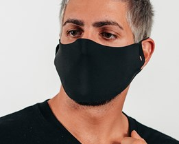10-Pack Seamless Black Face Mask - Headzone