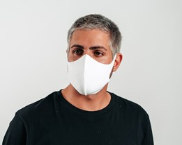 1-Pack Fashion White Face Mask - Equip