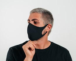 1-Pack Fashion Black Face Mask - Voz