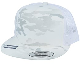 5-Panel Multicamo Alpine/White Trucker - Yupoong