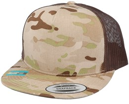 5-Panel Multicam Arid/Brown Trucker - Yupoong