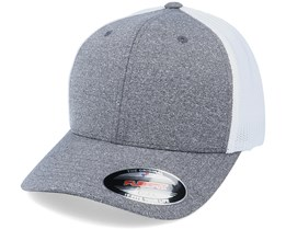Trucker Mesh Melange Dark Heather Grey/White Flexfit - Flexfit