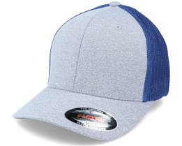 Trucker Mesh Melange Heather Grey/Royal Flexfit - Flexfit
