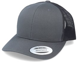 6-Panel Retro Charcoal Trucker - Yupoong