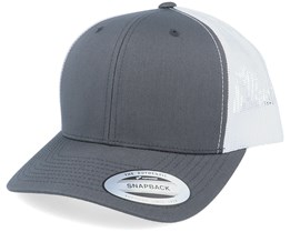 6-Panel Retro 2-Tone Charcoal/White Trucker - Yupoong