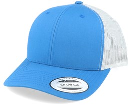 6-Panel Retro 2-Tone Steel Blue/Silver Trucker - Yupoong