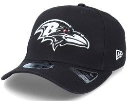 Hatstore Exclusive x Baltimore Ravens Essential 9Forty Stretch Snap Black Adjustable - New Era