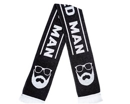 Black/White Scarf - Bearded Man