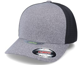 Melange Unipanel Heather Grey/Black Trucker Flexfit - Flexfit