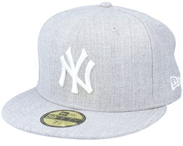 New York Yankees MLB 59Fifty Basic Heather Grey Fitted - New Era