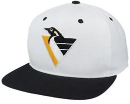 Pittsburgh Penguins Base Two Tone Nhl Vintage White/Black Snapback - Twins Enterprise