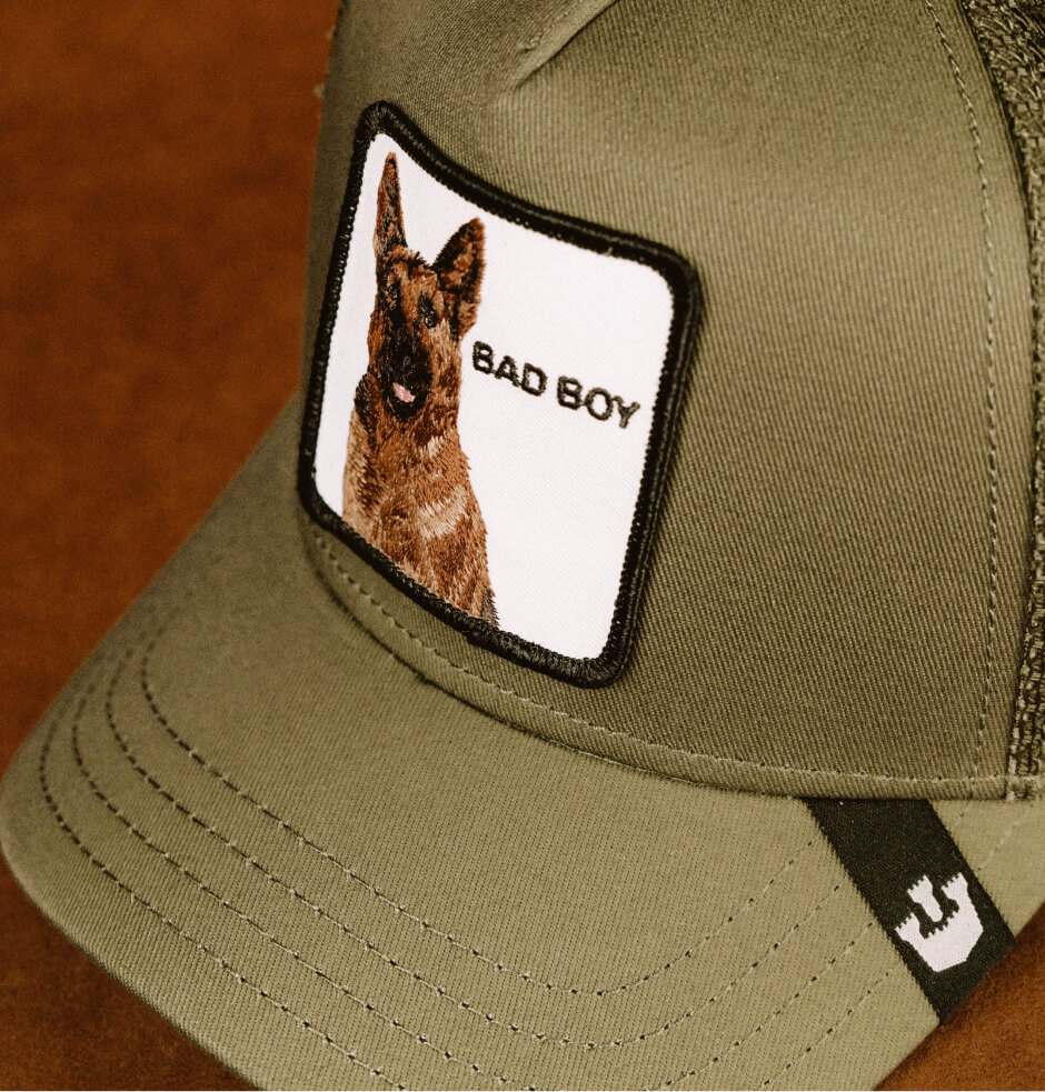 Hatstore Exclusive x Bad Boy Olive Trucker - Goorin Bros.