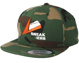 Orange Logo Camo Snapback - Sneakers