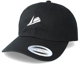 White Logo Black Dad Cap Adjustable - Sneakers