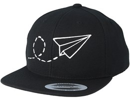 Kids Plane Black/White Kids Snapback - Kiddo Cap