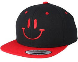 Kids Smile Black/Red Kids Snapback - Kiddo Cap