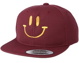 Kids Smile Maroon/Gold Kids Snapback - Kiddo Cap