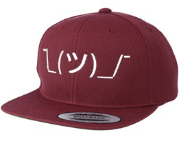 Kids Shrug Maroon/White Kids Snapback - Kiddo Cap