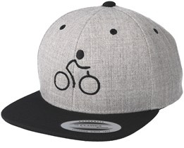 Bike Man Heather Grey/Black Snapback - Bike Souls