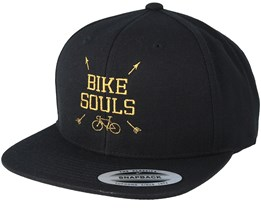 Souls Cross Black/Gold Snapback - Bike Souls