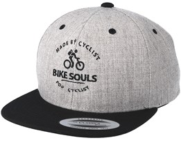 Made By Cyclists Heather Grey/Black Snapback - Bike Souls