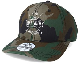 Never Stop Exploring Camo Adjustable - Bike Souls