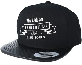 Urban Revolution 2 Black Leather Snapback Snapback - Bike Souls