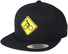 Bike Sign Black/Yellow Snapback - Bike Souls