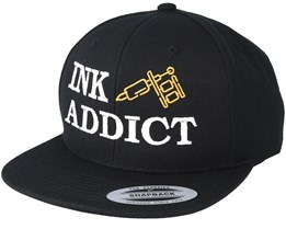 Ink Addict Black Snapback - Tattoo Collective