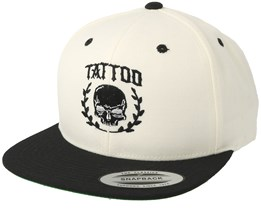 Tattoo Skull White/Black Snapback - Tattoo Collective