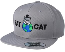 Global Cat Silver Snapback - Fat Cat