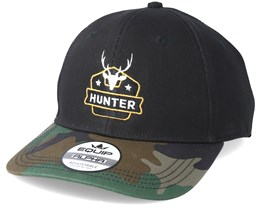 Deer Badge Black/Camo Adjustable - Hunter