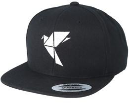 Logo Black/White Snapback - Origami