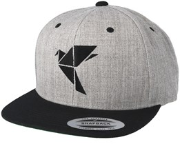 Logo Grey/Black Snapback - Origami