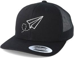 Plane Black Trucker - Origami