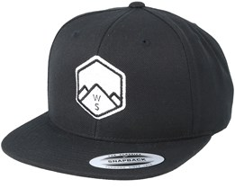WS Badge Black Snapback - Wild Spirit