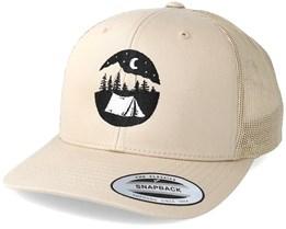 Tent Logo Beige Trucker - Wild Spirit