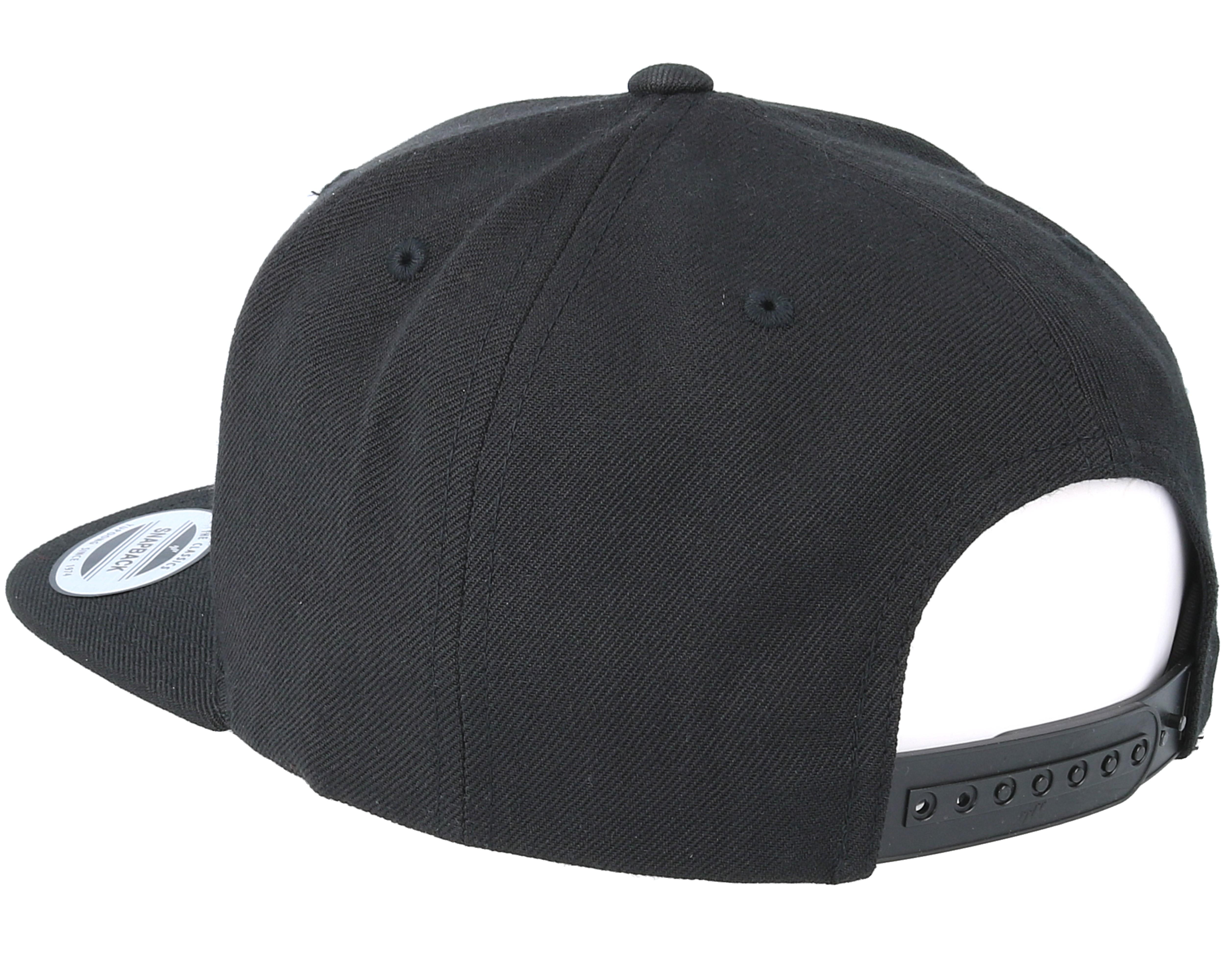 Pizza Time Black Snapback Boom Caps Hatstore Co Uk