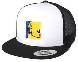 Poke Smoke White/Black Trucker - BOOM