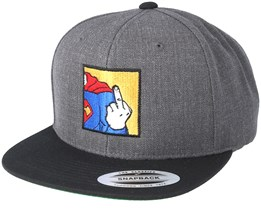 Super FU Charcoal/Black Snapback - BOOM