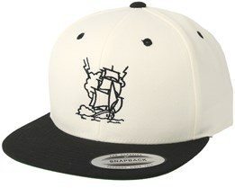 Ship Storm White/Black Snapback - Jack Anchor