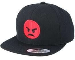 Emoji Angry Black Snapback - Iconic