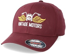Vintage Motors Maroon Flexfit - Born To Ride
